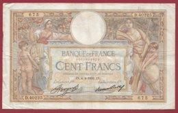 """100 Francs """"Luc Olivier Merson"""" Du 06/04/1933.JN---F/TTB+--ALPH .D.40225----(23) - 1871-1952 Antiguos Francos Circulantes En El XX Siglo"""