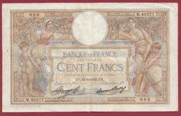 """100 Francs """"Luc Olivier Merson"""" Du 13/04/1933.CV---F/TTB+--ALPH .M.40377----(24) - 1871-1952 Antiguos Francos Circulantes En El XX Siglo"""