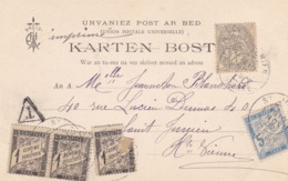 3 Cartes Postales Taxées à Voir - Poststempel (Briefe)