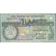TWN - GUERNSEY 52c - 1 Pound 2002-2009 Replacement Z - Signature: Clark UNC - Guernsey