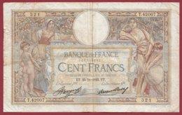 """100 Francs """"Luc Olivier Merson"""" Du 23/11/1933.ET---F/TTB+--ALPH .T.42007----(30) - 1871-1952 Antiguos Francos Circulantes En El XX Siglo"""