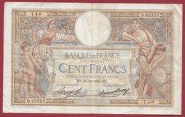 """100 Francs """"Luc Olivier Merson"""" Du 14/12/1933.MY---F/TTB+--ALPH .Q.42323----(31) - 1871-1952 Antiguos Francos Circulantes En El XX Siglo"""