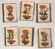 6 ETIQUETTES DE BOITE D'ALLUMETTES / Matchbox Label / FOLKORE RUSSE CCCP B874 - Boites D'allumettes - Etiquettes
