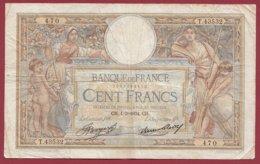 "100 Francs ""Luc Olivier Merson"" Du 01/03/1934.CH---F/TTB+--ALPH .T.43532----(36) - 1871-1952 Antiguos Francos Circulantes En El XX Siglo"