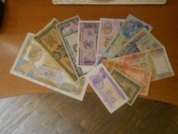 FRANCE   -  KAZAKISTAN  -  GREECE    AND  OTHERS   10  BILLETS  LOT - 1955-1959 Opdruk ''Nouveaux Francs''