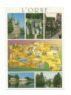 61-Carte Contour Géographique Du Département De ORNE - Cartes Géographiques