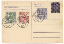 "222 - 8 - Entier Postal ""Hitler"" Annulé"" - Timbres Provinz Sachsen - Magdeburg 1946 - Zone Soviétique"