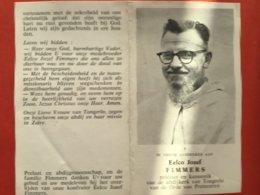 Doodsprentje Priester En Kanunnik TONGERLO - Eelco Jozef FIMMERS - Antwerpen 1910 - Geel Kliniek 1974 - Westerlo