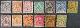 MARTINIQUE - 1892 - YT 31 à 43 - SAGE - Martinique (1886-1947)