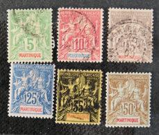 MARTINIQUE - 1899 -YT 44  à 49 - SAGE (oblitérés Ou Charnière) - Martinique (1886-1947)