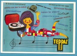 TEPPAZ LYON Tourne-disque - Repro Ancienne Affiche Par Alain Gauthier - Pubblicitari