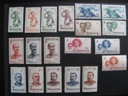 MADAGASCAR:  TB Série N° 300 Au N° 318, Neufs X. - Ongebruikt