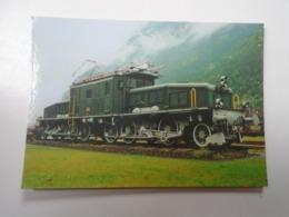 D168388  Train - Railway Station - Bahnhof  - Gare -  Hungarian Postcard  -Switzerland -Gotthard Bahn -Erstfeld - Treni