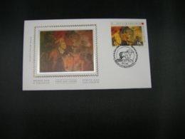 """BELG.1994 2549 FDC Zijde/soie (Brux/Brus) : """" Handvest Van Quaregnon /Charte De Quaregnon """" - 1991-00"""