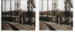 Plaque De Verre Stéréoscopique Positive - Marseille - Sur Le Vieux Port - Glass Slides