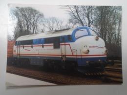 D168394  Train - Railway Station - Bahnhof  - Gare -  Hungarian Postcard  - Denmark - Nordjyske Jernbaner  Bhf. Hjorring - Treni