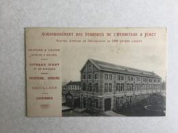 JUMET AGRANDISSEMENT DES  VERRERIES DE L' HERMITAGE A JUMET - Charleroi