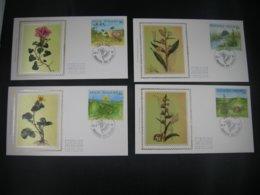 """BELG.1994 2572 2573 2574 & 2575 FDC's Soie/zijde (Brux/Brus) : """" Nature ,Planten/Plantes """" - FDC"""