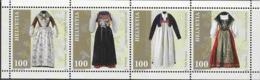 SWITZERLAND, 2019, MNH,COSTUMES, SHEETLET - Costumes