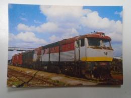 D168411 Train - Railway Station - Bahnhof  - Gare -Hungarian Postcard  -Slovakia  ZSR - Veľký Meder - Treni