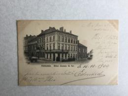 TONGEREN 1900  TONGRES HOTEL CHEMIN DE FER - Tongeren