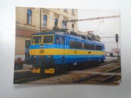 D168415 Train - Railway Station - Bahnhof  - Gare -  Hungarian Postcard  - Czechia  CD  BRNO  Station - Treni