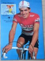 """Schweiz Suisse 1983: Zu 703 Mi 1258 Yv 1187 Maxikarte CM """"Serge Demierre"""" Mit O Altenrhein UCI/SRB Rad-WM'83 - Radsport"""