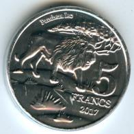 Katanga 5 Francs 2017 Lion UNC - Katanga