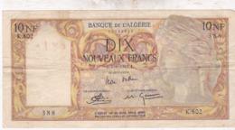 ALGERIE / DIX NOUVEAUX FRANCS 02/06/1961 / TTBE - Argelia