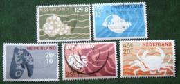 Zomerzegels Summer Sommer NVPH 877-881 (Mi 873-877) 1967 Gestempeld / USED NEDERLAND / NIEDERLANDE - 1949-1980 (Juliana)