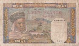 ALGERIE / 100 FRANCS 10/08/1942 - Argelia