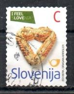 SLOVENIE. N°728 (catalogue Michel) Oblitéré De 2009. Pain En Forme De Coeur/Love. - Alimentazione