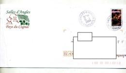 Pap Vendanges Cachet Salles D'angles Entete Pays Du Cognac - Prêts-à-poster:  Autres (1995-...)