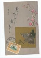 Chine  Carte Postale  Sanglier     Tientsin 1911 - China