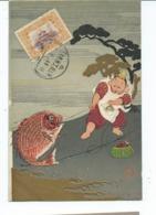 Chine  Carte Postale  Pêcheur Et Poisson     Tientsin 1911 - China