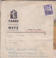 M 13  COQ TYPOGRAPHIQUE 118 VIOLET SUR CATALOGUE ANNEE 1959 - Postmark Collection (Covers)
