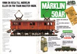 Catalogue Märklin 1988 - 50 År 1938-1988 - 50 År I Sverige Brochure - En Suédois - Livres Et Magazines