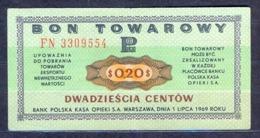 Poland  - 1969 - 20 Cent....P FX25b2....XF - Polen