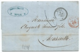 MP TUNIS POUR MARSEILLE / 1869 - 1849-1876: Classic Period