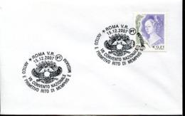 47592 Italia, Postmark 2007 Roma,rito Di Memphis E Misraim, Rite Of Memphis And Misraim,masonry,freimauererei,maçonnerie - Freemasonry