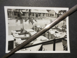 Indochine - Photo Originale - Vedettes Fluviales Y 685 - 686 Et 87  - Haïphong  - 1951 - TBE - - Boats