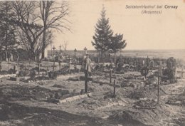 CARTE ALLEMANDE - GUERRE 14-18 - WESTFRONT - CERNAY - ARDENNES - CIMETIÈRE MILITAIRE ALLEMAND - Guerre 1914-18