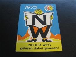 Germany GDR Pocket Calendar Neuer Weg 1975 Rare - Kalenders