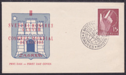 Yugoslavia, Deaf Congress, Zagreb, 1955, FDC - 1945-1992 Socialist Federal Republic Of Yugoslavia