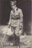 Croatia - FIUME RIJEKA - Gabriele D'Annunzio With Facsimile Of His Signature - REAL PHOTO Betti In Fiume. - Croatia