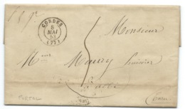 MP CORDES / POUR ALBI / 1853 - Postmark Collection (Covers)