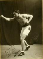 Sports Paris Boxe Boxeur Dedicace Ancienne Photo Poril 1930 - Sports