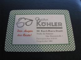 Germany GDR Pocket Calendar Kohler 1968 Rare - Calendars