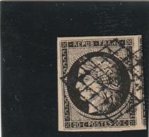 France N°3 Oblitéré Avec Voisin Premier Choix - 1849-1850 Ceres