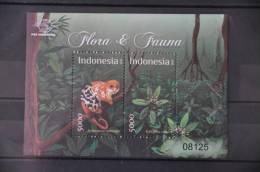 H 271 ++ INDONESIA 2012 SHEET FLORA FAUNA MONKEY MNH ** - Indonesien